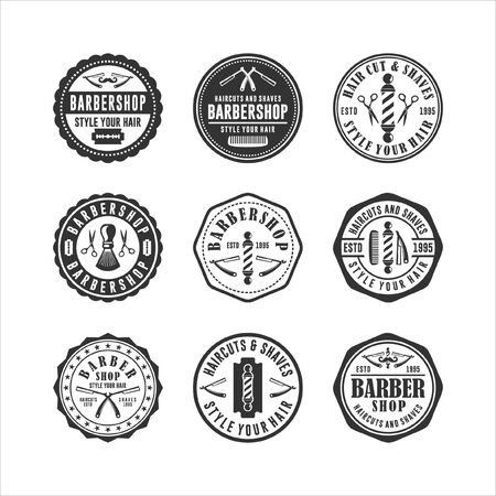 Badge Stamps Barbershop Haircuts And Shaves
