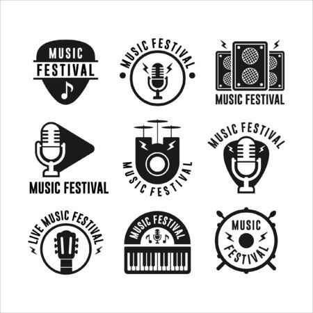 Music Festival Badge Collections Foto de archivo - 150362664