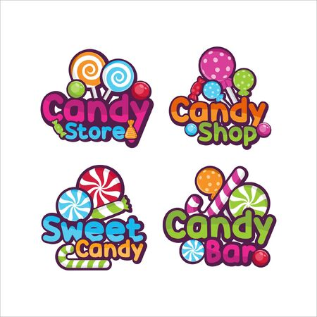 Sweet candy shop Vector design