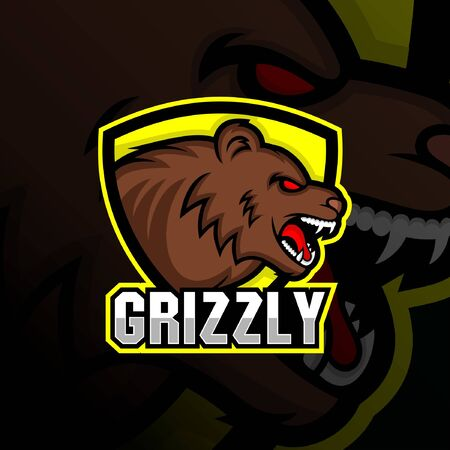 Grizzly Head Esport Gaming Logo