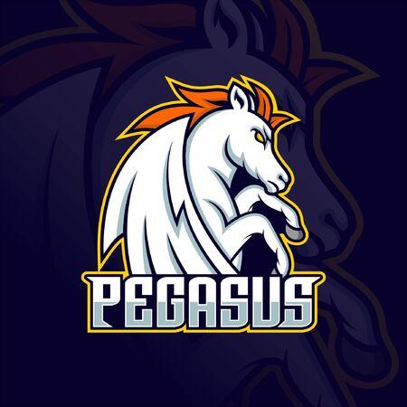 Pegasus Mascot Esport logo gaming