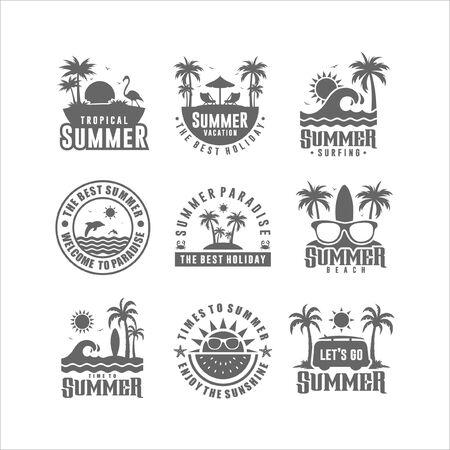 Badge Summer Design Logo Collection Logo