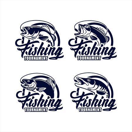 Fishing Tournament vector design logo collection