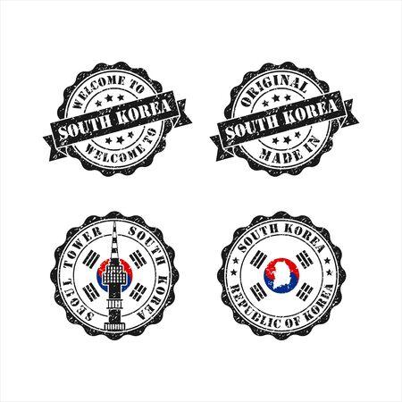 Stamp original mede in Seoul South Korea Collection