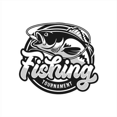 Fishing Tournament Vector Design Logo