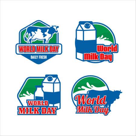 World milk day design collection