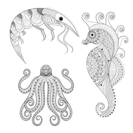 Tattoo Octopus. Hand Stammes- Krake Für Erwachsene Anti-Stress ...