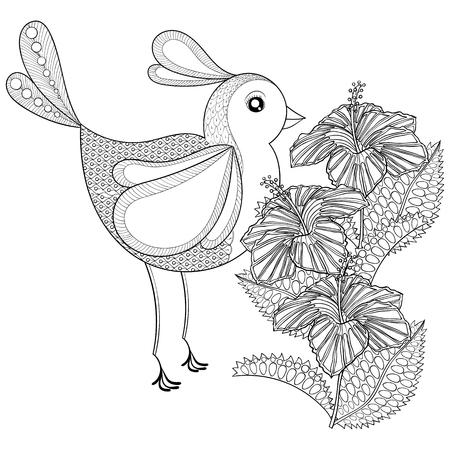 Hand Stammes-Fliegen-Schmetterling Und Hibiskus-Blume Für Erwachsene ...