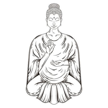 Buda Sentado En Posición De Loto, Enseñando El Budismo, El Arte Del ...
