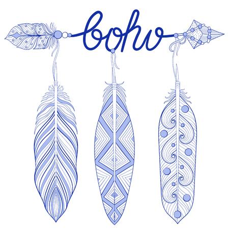 Boho, Love, Hope Flechas Con Plumas. Las Flechas Decorativas Para ...