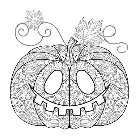 Cara Estilizada De La Calabaza Para Halloween, Día De La Acción De ...