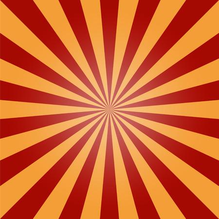 converging: sun burst background, red orange  vintage Illustration