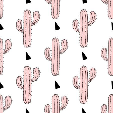Par De Cactus Con Mensaje Sé Salvaje. Fondo De Moda Moderna Para ...