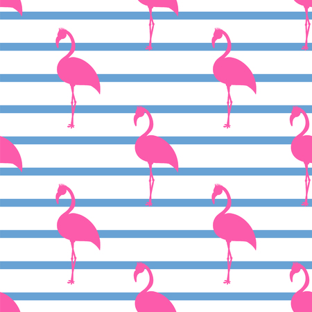fashion background: Tropical summer animal background with geometric stripes texture. Illustration