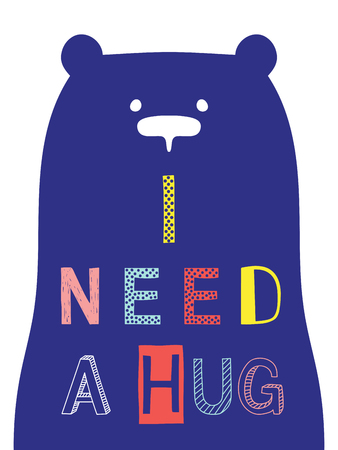 I need a hug slogan with bear face