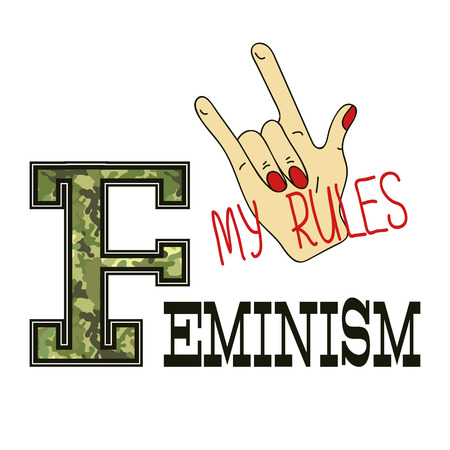 Feminism slogan