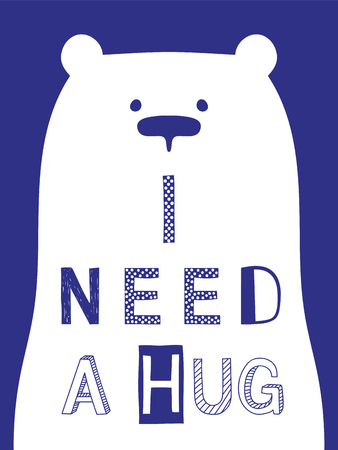 I need a hug slogan with bear
