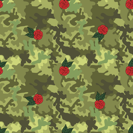 Military army pattern Ilustrace