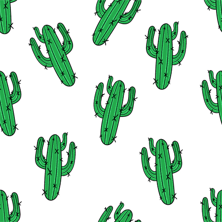 Cactus seamless pattern. Modern fashion background