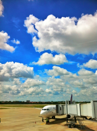 clound: The blue sky are hight