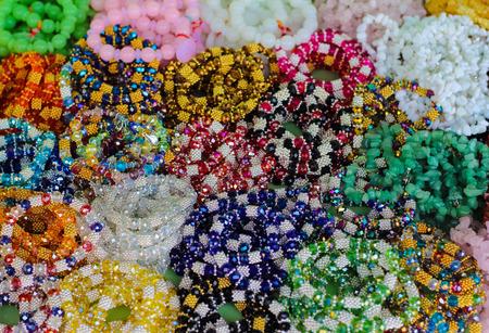 refills: rainbow Colors Loom Refills Colour full Stock Photo