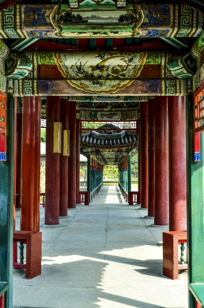 the humanities landscape:  qing dynasty architecture Stock Photo