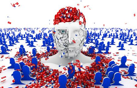 overdosering: sociale media, overdosis Stockfoto