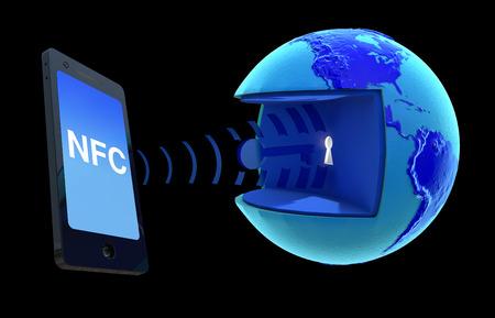 NFC Near Field Communication. Stock Photo