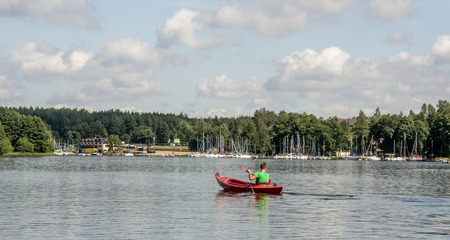 good weather: Kayaks On Water In Good Weather.
