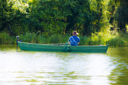 angler: angler on the boat