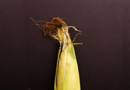 Unopened Fresh Corn With Cob
