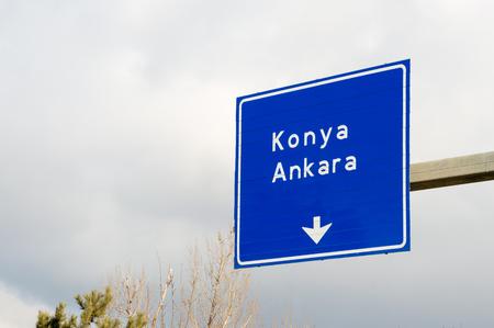konya: Turkish Road Signboard, Tepebasi district in Eskisehir  TURKEY