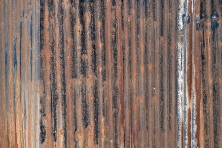 Rusty galvanized wall texture background. Metal panel sheeting. Stok Fotoğraf - 148354400