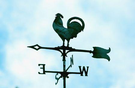 Rooster weathervane Stock Photo