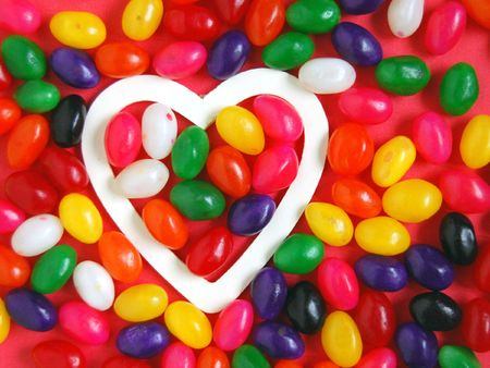 Hearts and candies