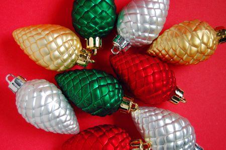 pinecones: Christmas pinecones Stock Photo