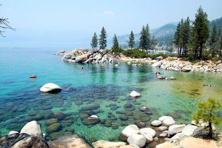 View of Lake Tahoe Stock Photo