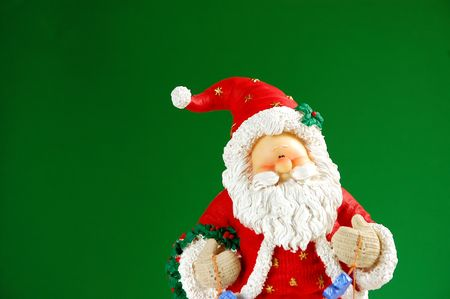 st nick: Santa against green background