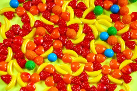 junkfood: Colorful fruit candy