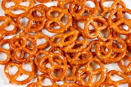 Golden brown pretzels