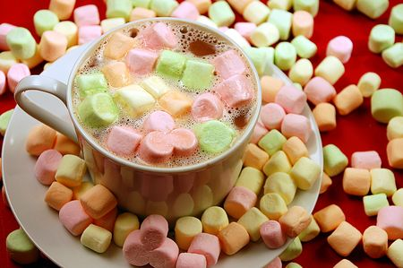 marshmallows: Hot chocolate with marshmallows