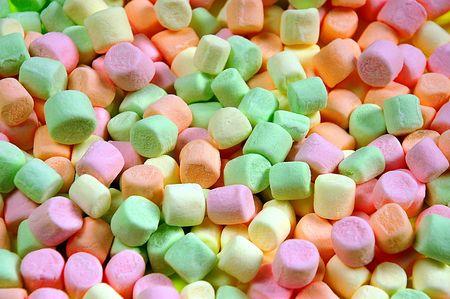 marshmallows: Colorful marshmallows