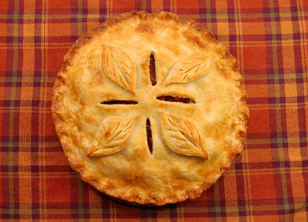 Golden apple pie photo