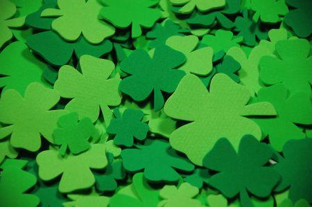 Green shamrocks 写真素材