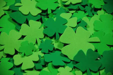 Green shamrocks Stock Photo