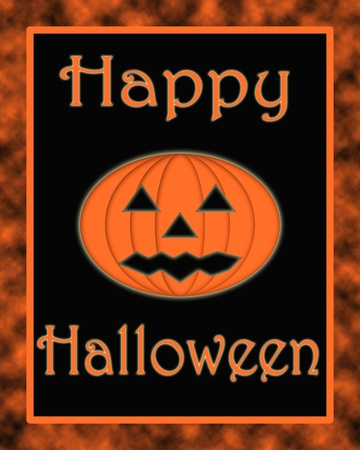 Happy Halloween pumpkin greeting photo