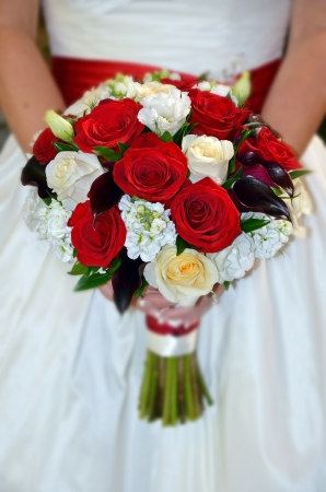 Bridal rose bouquet