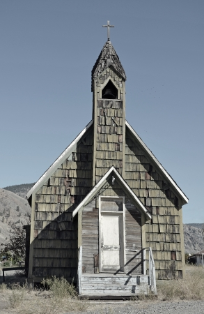 abandoned: Old abandoned wooden church Stock Photo