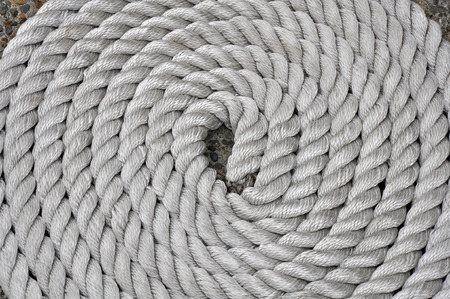 twisting: Twisting rope pattern in circles Stock Photo