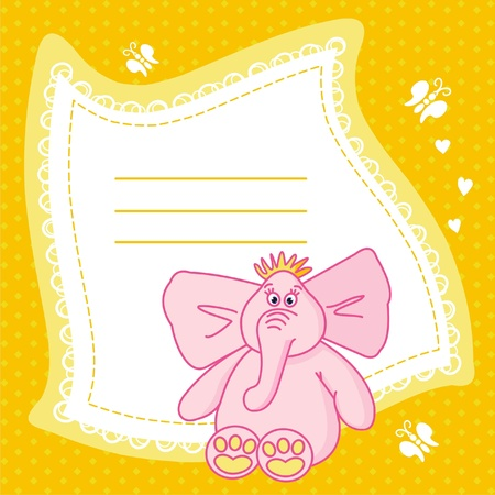 The Beautiful vector illustration frame with elephant. Vector